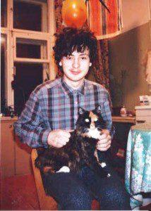Sasha and the cat who liked Pravda (Photo by Faith McDonnell)