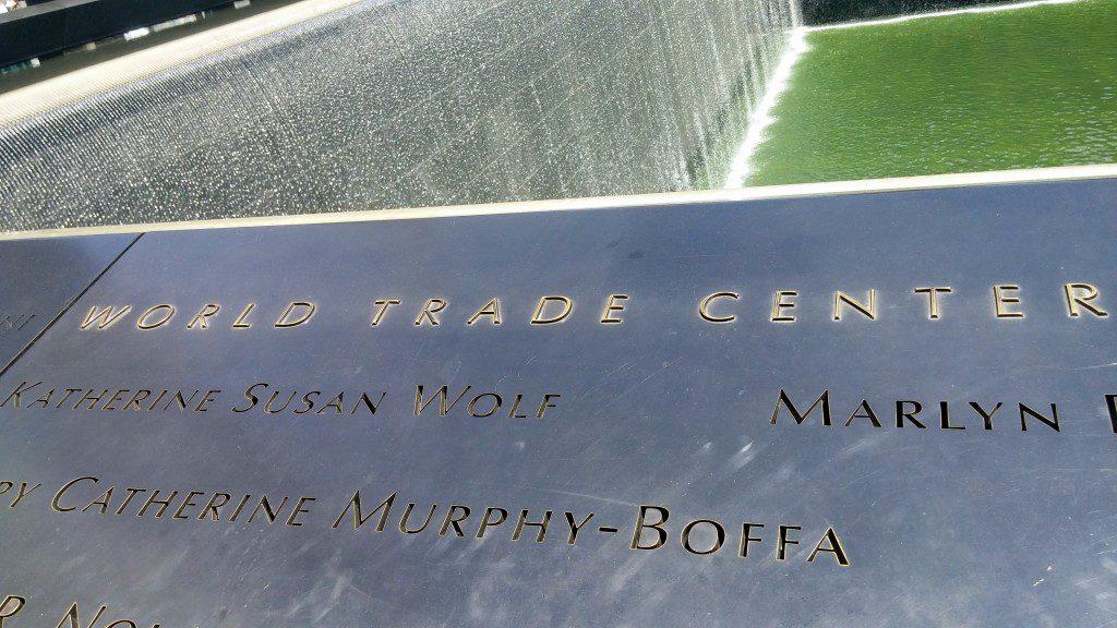 Panel of the World Trade Center Memorial