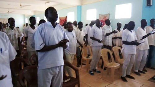 Prison worship service in Sudan (Leaked photo)