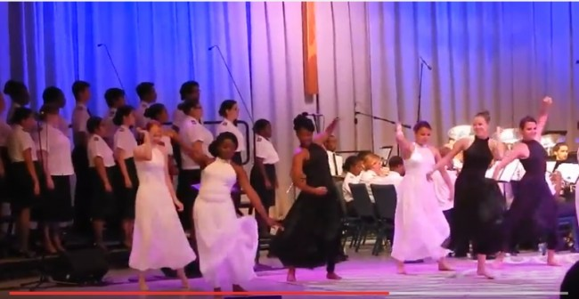 "Screen capture from video of ""They Shall Come From The East."" (Photo credit: Faith McDonnell)"