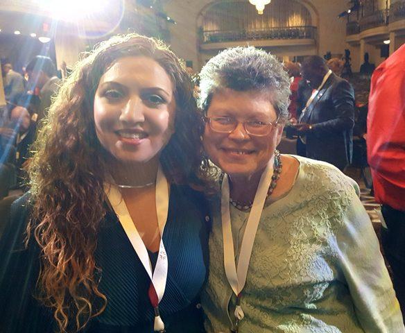 With Rashin Soodmand at the World Summit