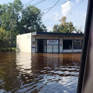 Flooded Post Office in Port Arthur
