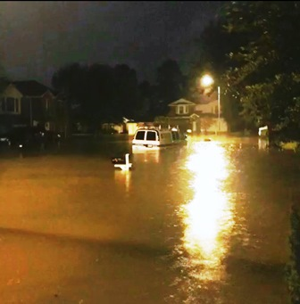 Shining a light on another flooded Texas neighborhood (Photo credit: IHF)