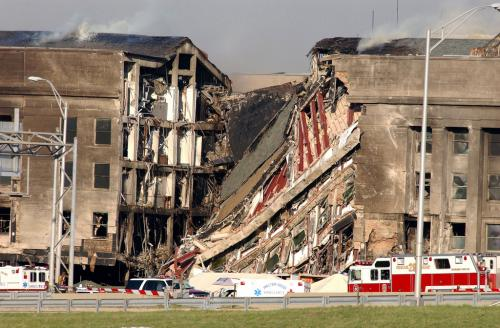 The Pentagon after the 9/11 attack. (U. S. Naval photo by Photographer's Mate 1st Class Michael W. Pendergrass)