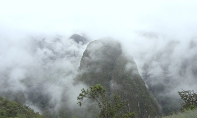 The mountains surrounding Machu Picchu are often wreathed in clouds. (Lori Erickson photo)
