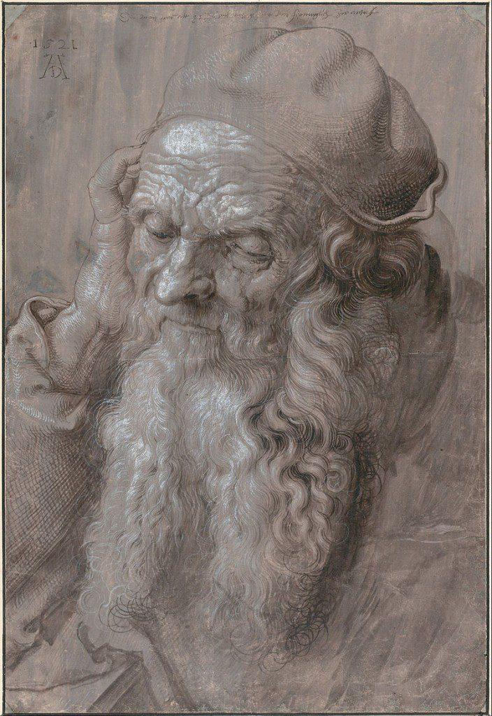 Head of an Old Man by Albrecht_Dürer_(Wikimedia Commons Image)