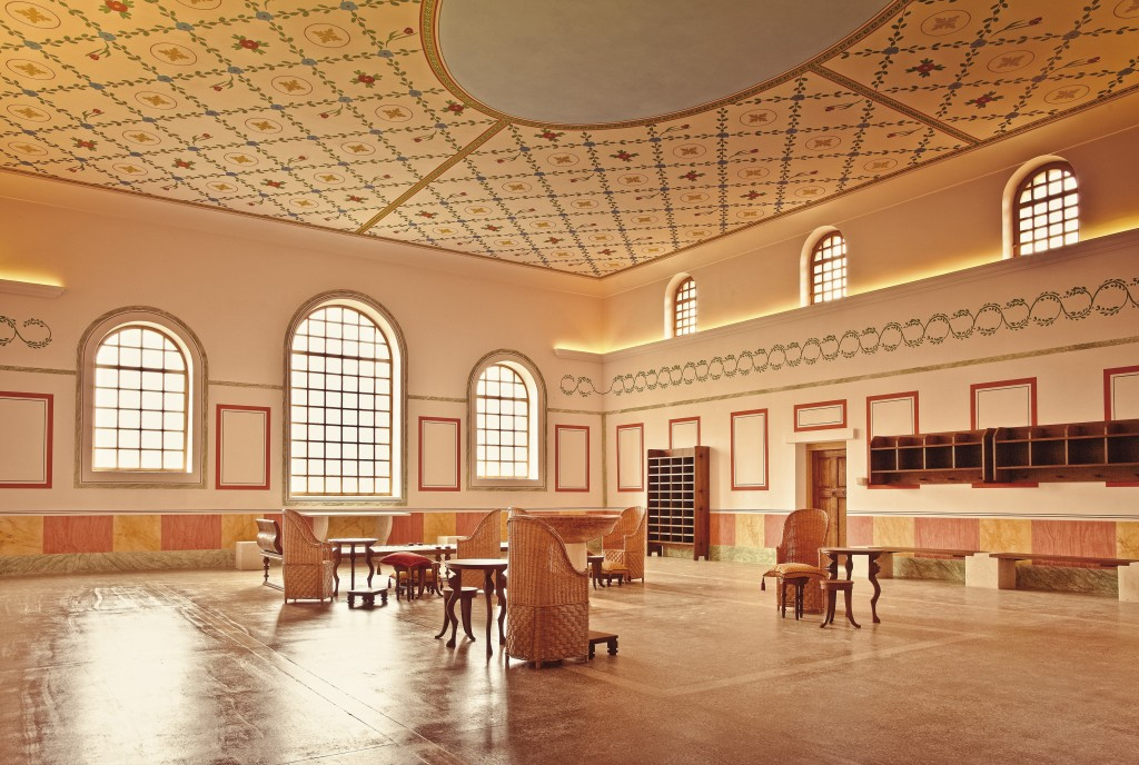 The reconstructed bath house at Carnuntum includes this spacious assembly room. (photo used with permission of Carnuntum)