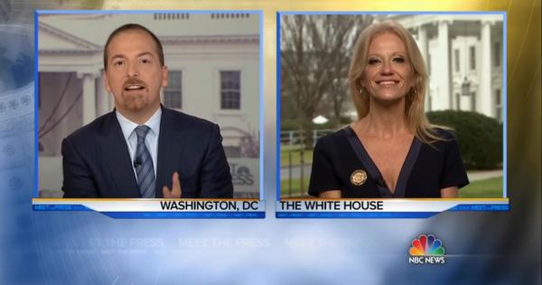 Chuck Todd and Kellyanne Conway on Meet the Press, January 22, 2017 (screenshot via NBC News)