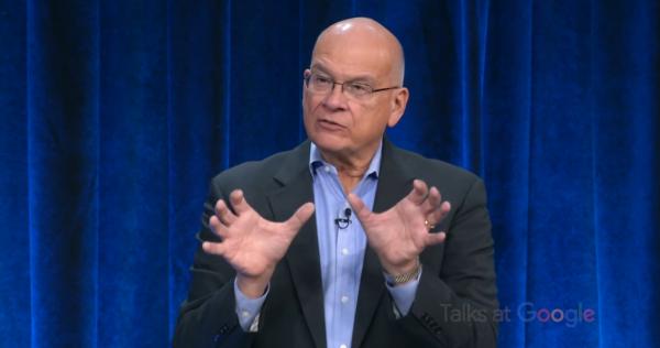 Tim Keller speaks to a Talks At Google event (screenshot via YouTube)