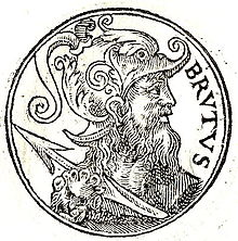 (Brutus of Troy, the mythical founder of London. Source: Wikimedia, Creative Commons License).
