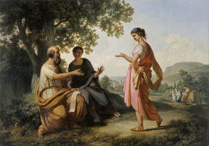 "(""Socrates with Diotima and a Disciple,"" by Franz Caucig, before 1810. Source: Wikimedia, Creative Commons License)"