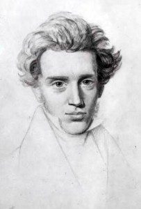 (A drawing of Kierkegaard by his cousin, Niels Christian Kierkegaard, c. 1840. Source: Wikimedia, Creative Commons License).