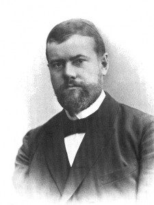 (A photograph of Max Weber, c 1894. In many ways, Weber was the architect of the modern academy. Source: Wikimedia, Creative Commons License).