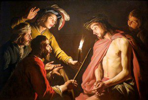 """(""""Christ Crowned with Thorns,"""" by Matthias Stom, c. 1633-1639. Source: Wikimedia, Creative Commons License)."""