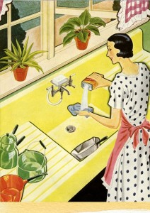 (A Depiction of a 50s housewife. Source: Pixabay.com, Public Domain).