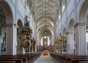(The interior of St. Michael's Church, Bamberg, Germany. Source: Wikimedia, Creative Commons License).