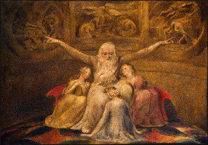 "(""Job and His Daughters"" by William Blake, 1800. Source: Wikimedia, Creative Commons License)."