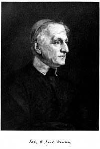 (John Henry Cardinal Newman in Century Magazine, 1882. Source: Wikimedia, Creative Commons License).