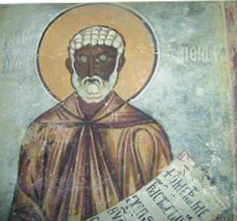 (A depiction of Abba Moses the Black. Source: Wikimedia, Free Art License).