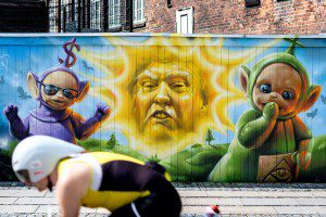 (Donald Trump street art in Copenhagen. Source: Flickr, Labelled for Reuse).
