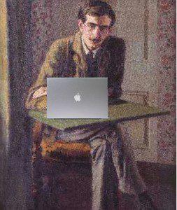 """(""""John Maynard Keynes Blogging, after Duncan Grant,"""" by Mike Licht. Source: Flickr, Labelled for Reuse)."""