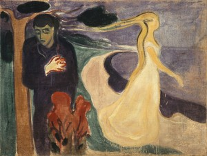 """Separation"" (1896) by Edvard Munch. Source: Wikimedia, Creative Commons License."