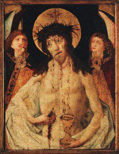 A Man of Sorrows, (c.1470) currently in main Prague Utraquist Church of Our Lady before Teyn. Source: Wikimedia, Creative Commons License).