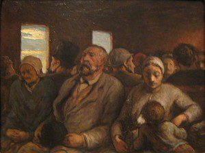 Third-Class Carriage (c. 1856-1858) by Honoré Daumier. Source: Flickr, Attribution Required.