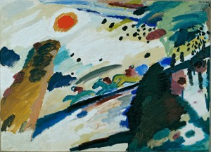 Romantic Landscape (1911) by Wassily Kandinsky. Source: Wikimedia, Creative Commons License.