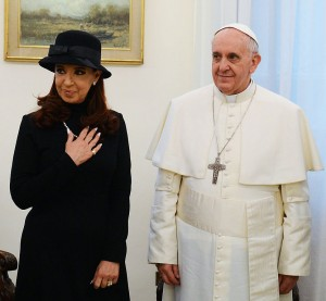 Pope Francis with Cristina Fernández de Kirchner, then president of Argentina and noted Peronist, on March 18, 2013. Source: Wikimedia, Creative Commons License.