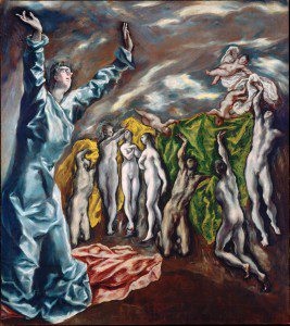 Visión del Apocalipsis, Visión de San Juan, o Apertura del Quinto Sello del Apocalipsis (1608-1614) by El Greco. Source: Wikimedia, Creative Commons License.