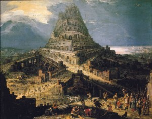 The Tower of Babel (16th century) by Hendrick van Cleve. Source: Wikimedia, Public Domain.