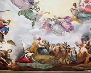 A detail from The Apotheosis of Washington (1863-1864) by Constantino Brumidi. Source: Architect of the Capitol (no endorsement to be inferred), hosted on Wikimedia.