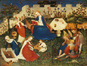 Little Garden of Paradise (c.1410-c.1420) by the Upper Rhenish Master. Source: Wikimedia, Public Domain.