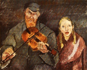 Blind Musician (1922) by Alvar Cawén. Creative Commons License.