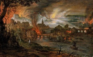 The Destruction of Sodom and Gomorrah by Pieter Schoubroeck. Creative Commons License.