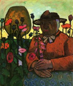 Old Woman from the Poorhouse in the Garden with a Glass Ball (1907) by Paula Modersohn-Becker. Public Domain.