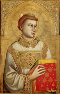 Saint Stephen (c. 1320-1325) by Giotto. Public Domain.