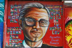 A mural of Archbishop Óscar Romero. Source.