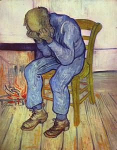 Sorrowing Old Man ('At Eternity's Gate'), 1890, by Vincent van Gogh. Public Domain.