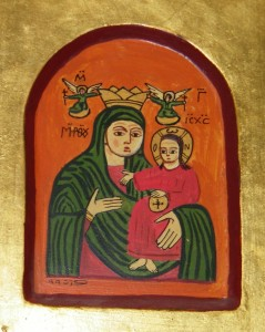 Coptic Icon of the Theotokos, Photograph by Henry Karlson