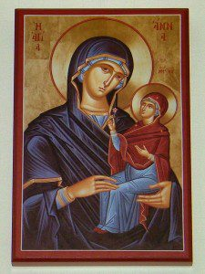 Icon of St Anne with Infant Mary on Wall; Photograph by Henry Karlson