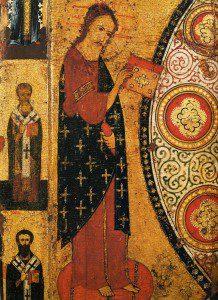 Jesus from Icon of Nikola Lipniy. By Aleksa Petrov ([1]) [Public domain], via Wikimedia Commons