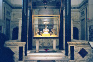 The Holy Cross at Holy Cross at Jerusalem, Rome. Photo by Henry Karlson