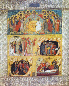 Icon of the resurrection By Anonymous (Solovetsk closter. Cоловецкий монастырь. Ризница) [Public domain], via Wikimedia Commons