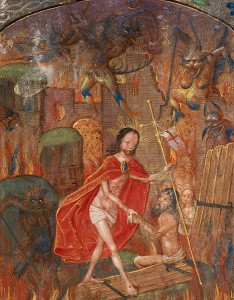 Harrowing of hell. This file is made available under the Creative Commons CC0 1.0 Universal Public Domain Dedication. Via Wikimedia Commons