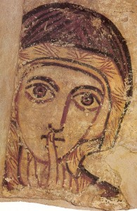 Saint Anne by Anonymous (Faras) [Public domain], via Wikimedia Commons