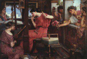 Suitors of Penelope by John William Waterhouse [Public domain], via Wikimedia Commons