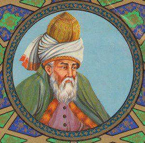 Rumi By Molavi (Masnavi Manavi Molavi) [Public domain], via Wikimedia Commons