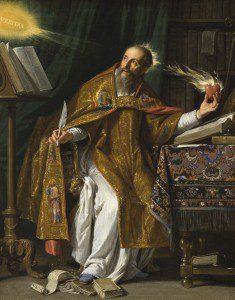 St. Augustine by Philippe de Champaigne [Public domain], via Wikimedia Commons